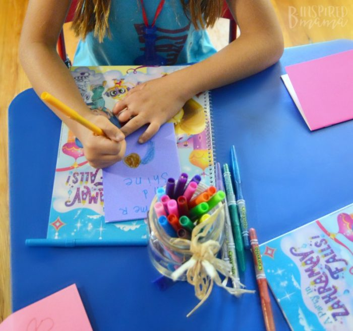 4 Simple Steps to a Girly Party your Daughter will Adore - Making Shimmer and Shine Storybooks - at B-Inspired Mama
