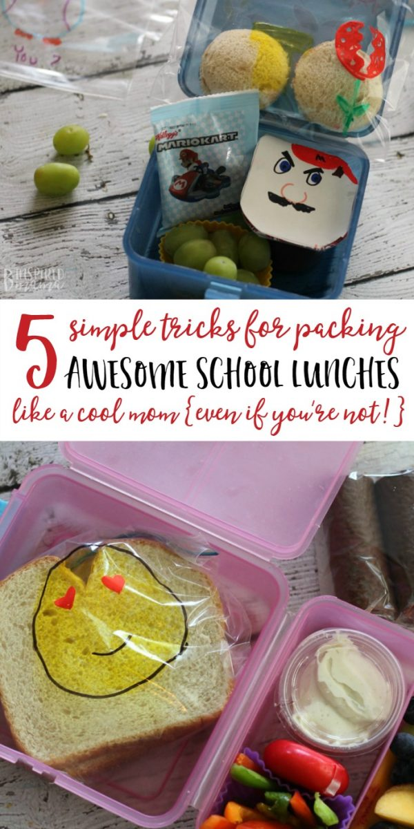 5 Super Simple Tricks for Packing School Lunches like a Cool Mom - Even if You're Not - B-Inspired Mama