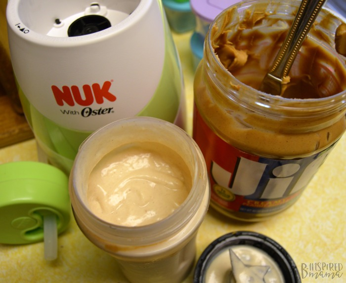 Creamy Vanilla Peanut Butter Smoothie Recipe - Made easy with my new NUK Smoothie and Baby Food Maker - at B-Inspired Mama