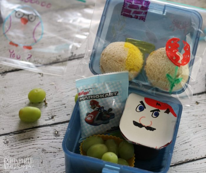 Packing School Lunches like a Cool Mom - Even if You're Not - A Fun Super Mario Kids Lunch - at B-Inspired Mama