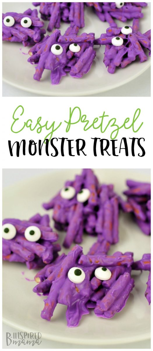 How to Make Cute Non-Scary Halloween Monster Treats - A fun kids' treat for a class Halloween party or even for a preschool monster theme or kids monster Birthday party!