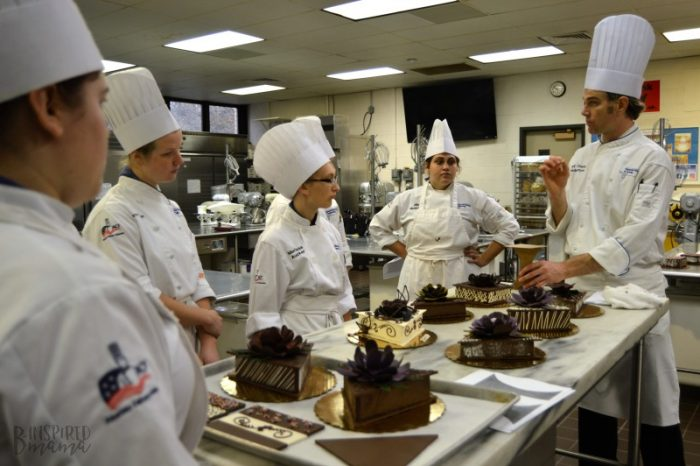 In Chocolate Works Lab with the Chefs in Training at the Penn College Cultinary Arts Program