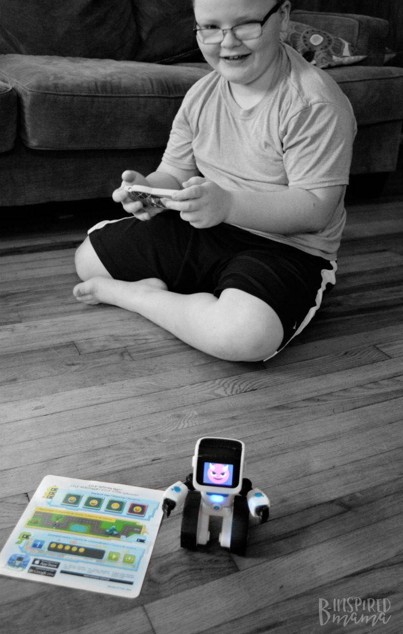 Learning to Code with COJI - 2 Cool Toys your High-Tech Kids will Love - at B-Inspired Mama