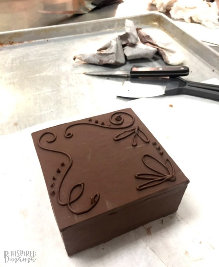 Making my Chocolate Box during my visit to the Penn College Cultinary Arts Program