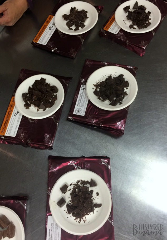Our Guittard Chocolate Taste Testing at Penn College Cultinary Arts Program