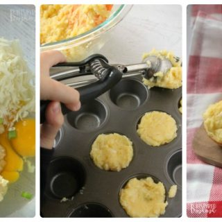 Super Easy Cheesy Potato Bites - an awesome kid-friendly cheesy potatoes recipe at B-Inspired Mama