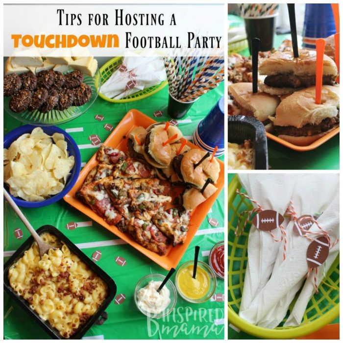 Touchdown Party Tips + Easy Football Party Food - at B-Inspired Mama