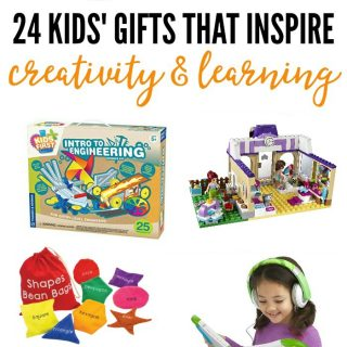 24 Kids' Gifts that Encourage Learning and Creativity - from books to STEM toys to craft kits and more - a 2016 Holiday Gift Guide