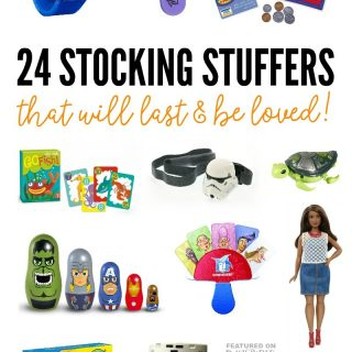 24 Unique and Quality Kids Stocking Stuffers that will last and be loved - A 2016 Holiday Gift Guide from B-Inspired Mama