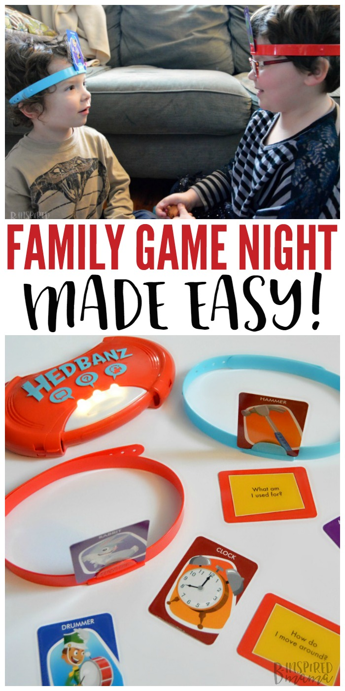 A Fun Family Game Night - Made Easy - Perfect for quality family time indoors on a cold Winter day - at B-Inspired Mama