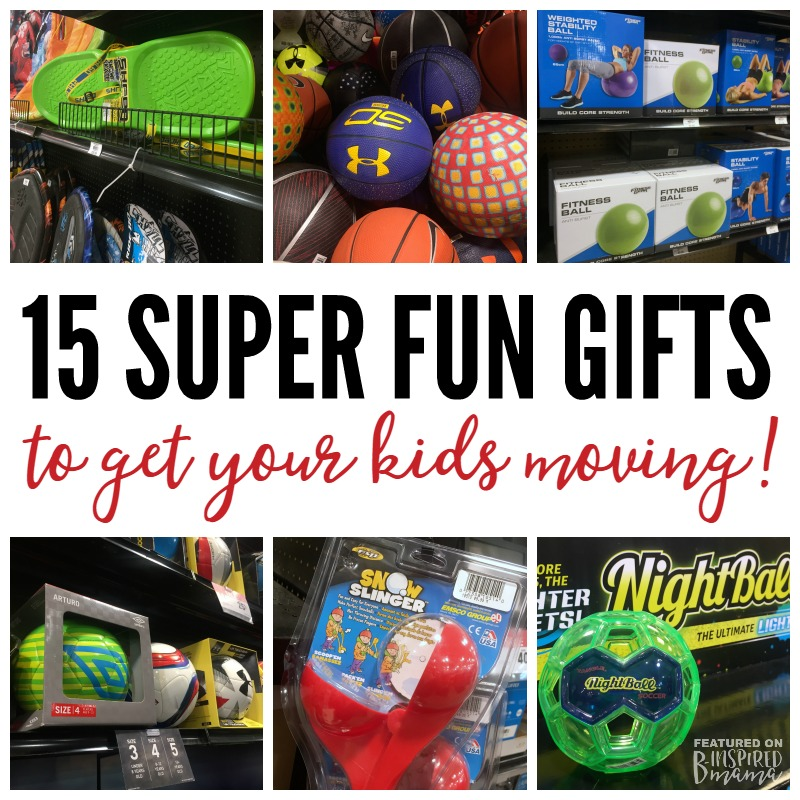 15 Super Cool Gifts to Get Kids Moving - Perfect Christmas gift ideas for athletic sporty kids or those who need to get more active! - A 2016 Holiday Gift Guide from B-Inspired Mama