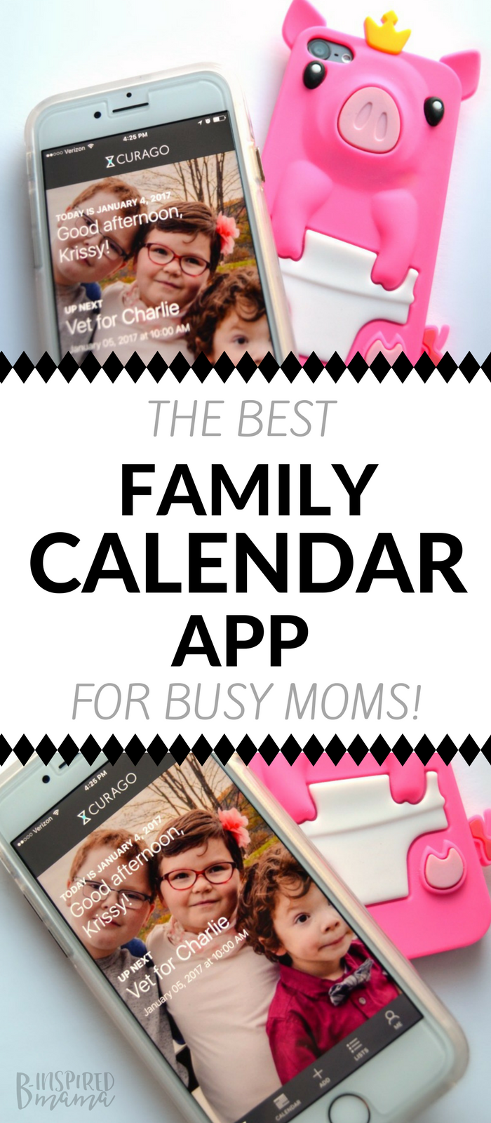 The BEST Family Calendar App - for busy moms and their kids - at B-Inspired Mama