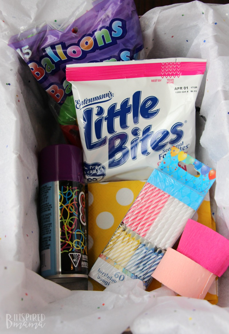 Gather Party Supplies To A Make Birthday In Box