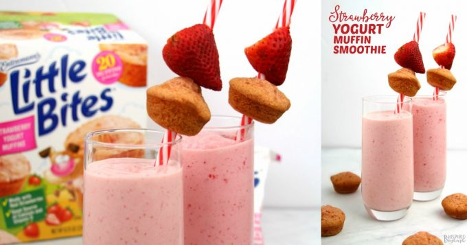 Strawberry Yogurt Muffin Kids Smoothie - at B-Inspired Mama