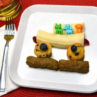 Banana School Bus – A Cute Before School Breakfast Recipe