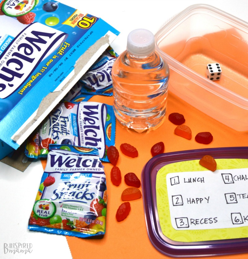 Fun and simple to make DIY Game for Better After School Conversations with Your Kids - Perfect for playing during snack time! - at B-Inspired Mama