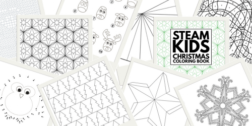 STEAM Kids Christmas Coloring Book
