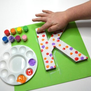 A Cute Painted Letter Craft Gift  – Mom Will Treasure Forever!