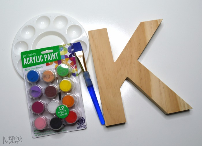 Cute Painted Letter Craft - Supplies