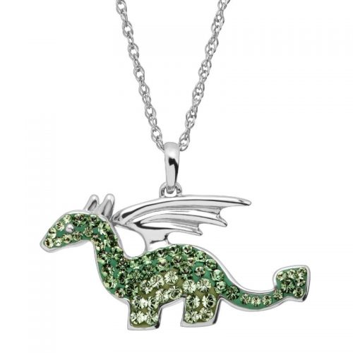 Crystaluxe Dragon Pendant