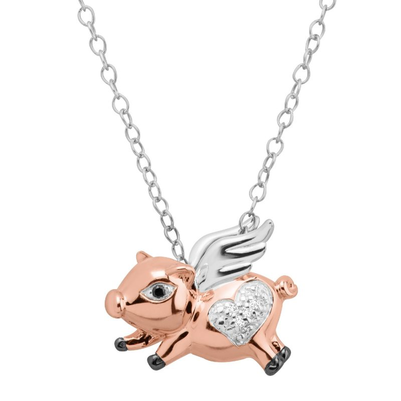 Finecraft Flying Pig Pendant