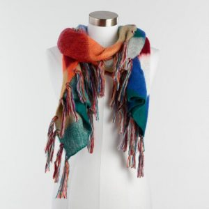 Multicolor Harlequin Reversible Scarf
