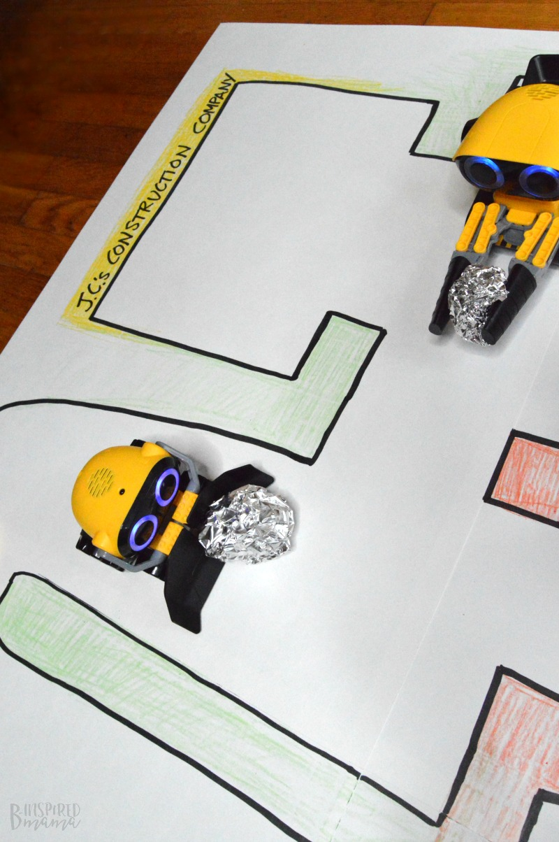 The BotSquad from WowWee! + Make a Simple DIY Playmat for Kids Robot Toys - at B-Inspired Mama