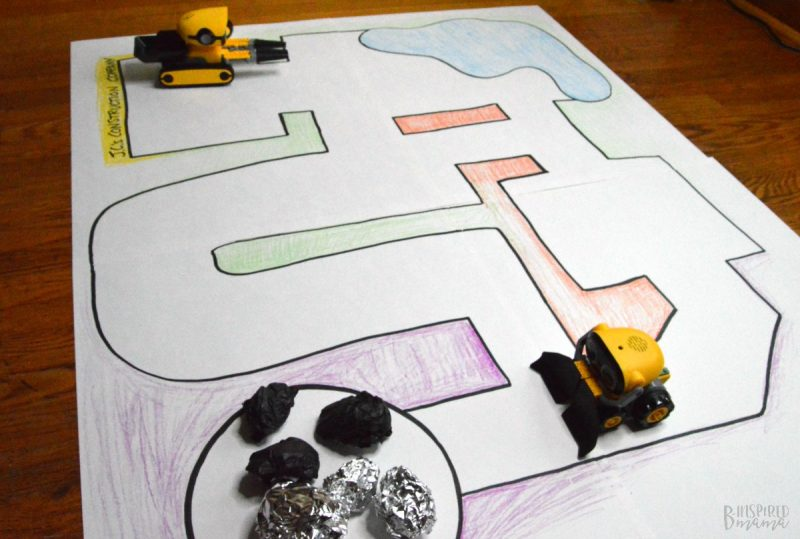 The Botsquad getting to work! + Make a Simple DIY Playmat for Kids Robot Toys - at B-Inspired Mama