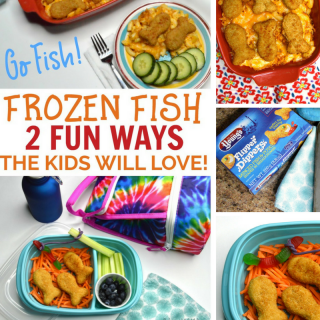 Go Fish! - Frozen Fish 2 Ways the Kids will Love - An Easy Meal and a Fun Lunch - at B-Inspired Mama