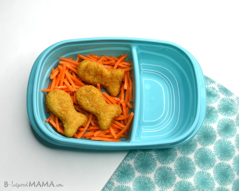 Making our Fun Lunch for Kids - Go Fish Packed Lunch - Step 2 - at B-Inspired Mama