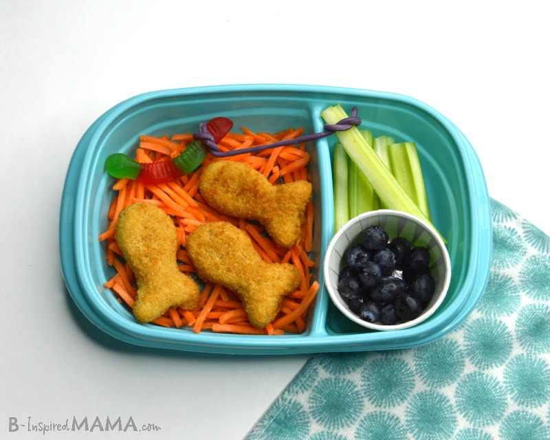 Making our Fun Lunch for Kids - Go Fish Packed Lunch - Step 5 - at B-Inspired Mama