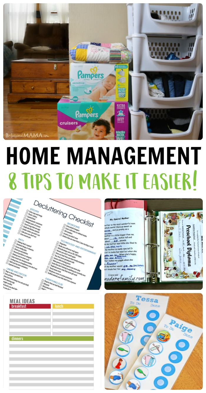 Simple Home Management Tips for Busy Moms - at B-Inspired Mama