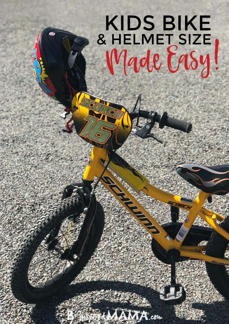 The Best Kids Bike and Kids Bike Helmet Sizes - Made Easy! at B-Inspired Mama