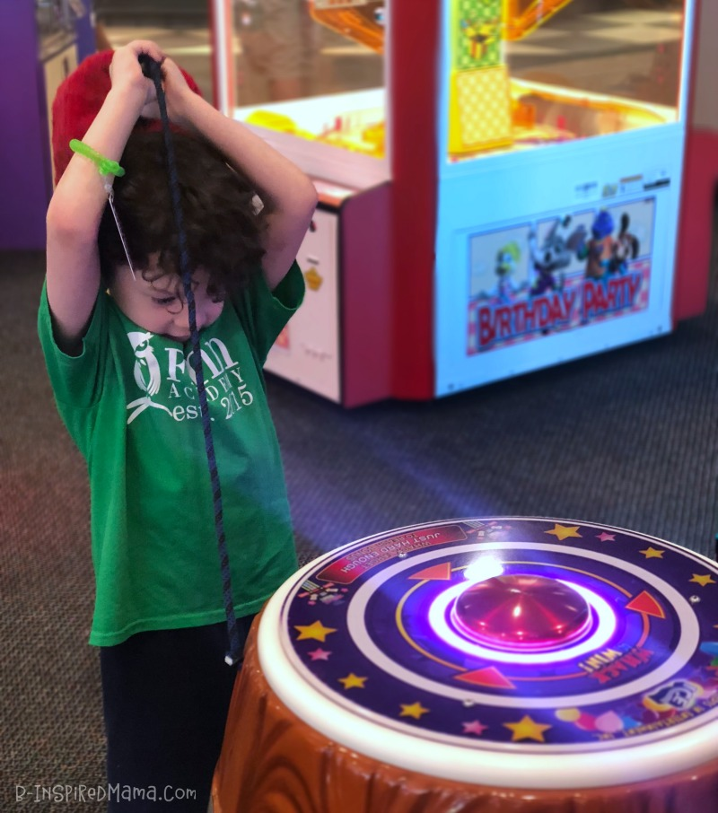 JC playing during our Inexpensive Indoor Fun for Kids at Chuck E. Cheese's