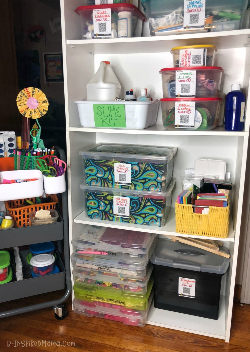 A Smart Solution to Conquer the Battle of Organizing Kids Art Supplies - Using Duck Pack and Track
