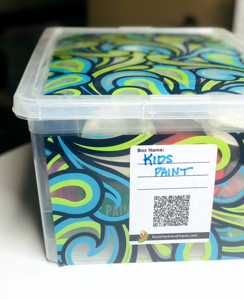 Organizing Kids Art Supplies with Duck Pack and Track labeling system