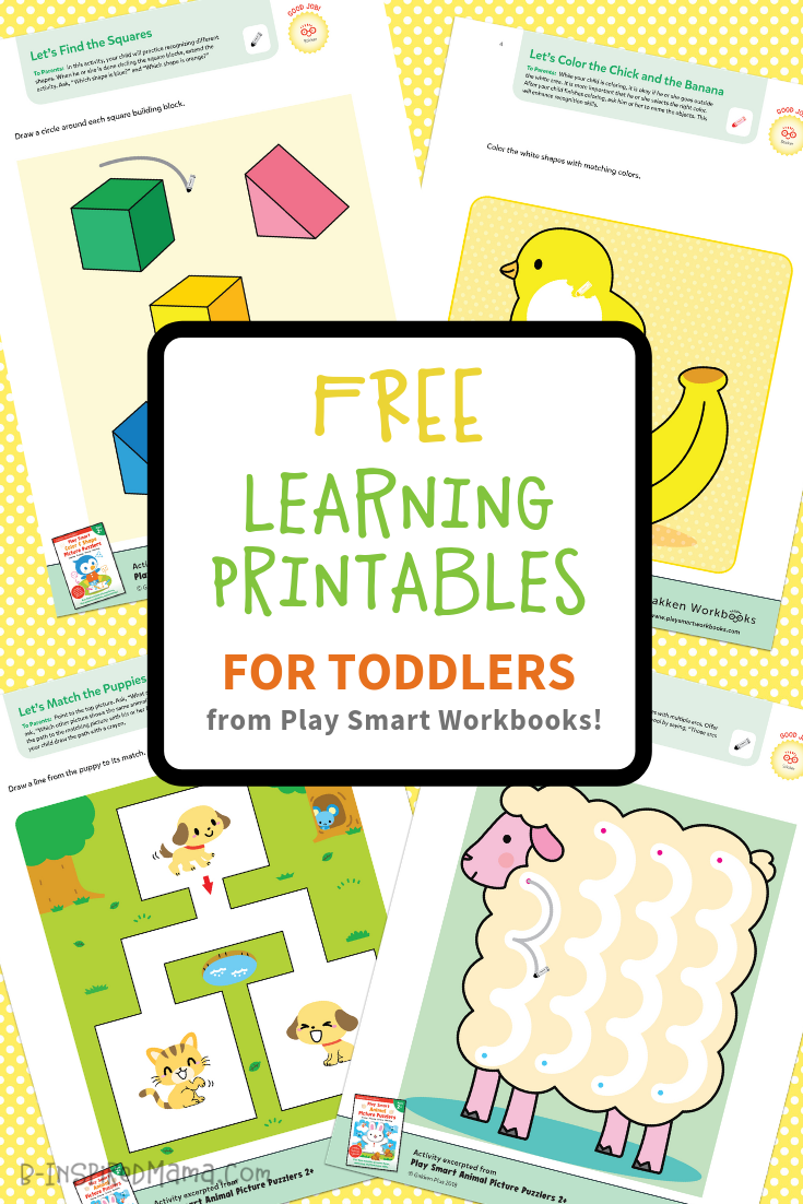 Colorful & Fun FREE Printables for Toddlers to Learn From