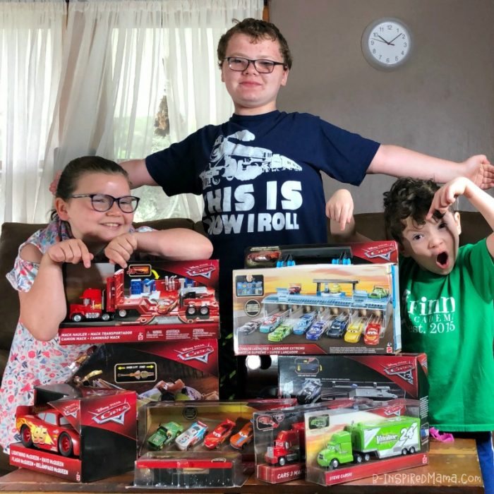 My kids are SO excited about their new Cars 3 toys!