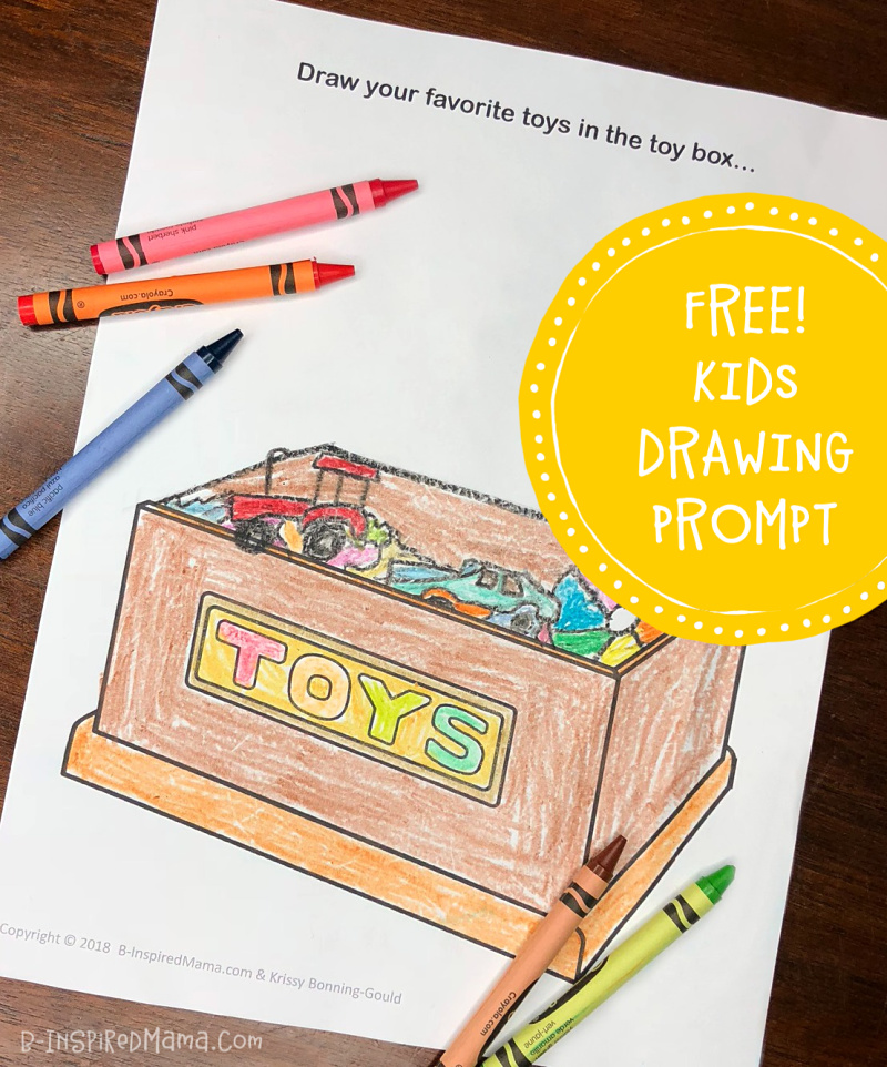 A FREE Kids Drawing Prompt Printable - Inspired by our visit to The Strong National Museum of Play