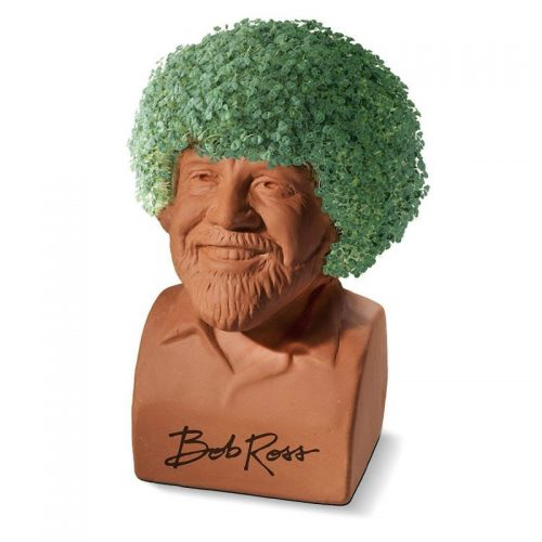 Bob Ross Chia Head - a fun gift for creative moms