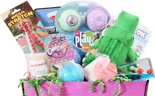 Sensory TheraPLAY Box - full of sensory toys and games for kids!
