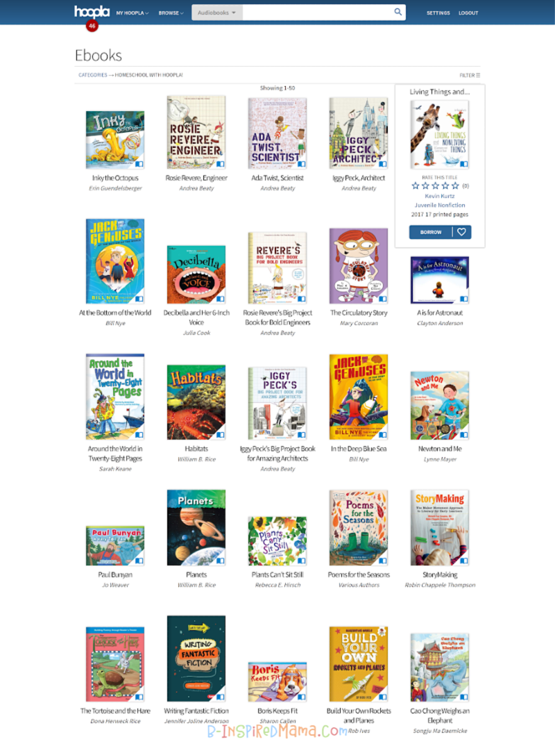 So many STEAM books for the kids on hoopla digital + so many more STEAM resources for parents and teachers