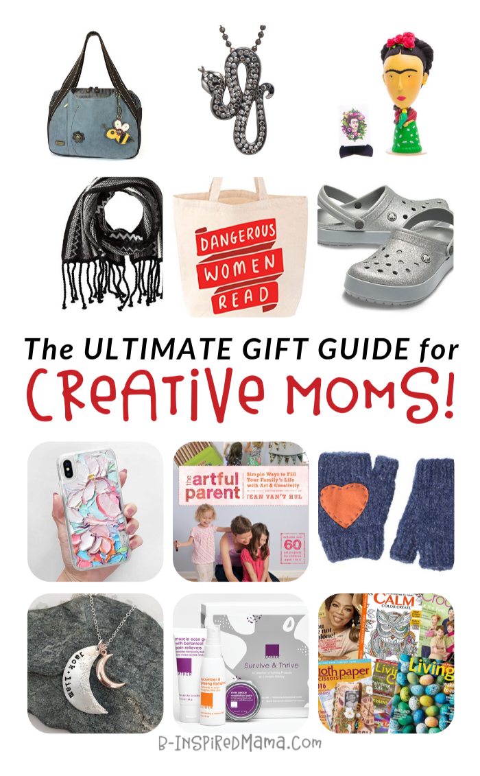 The ULTIMATE Gift Guide for Creative Moms - with over 68 awesome gift ideas for moms!