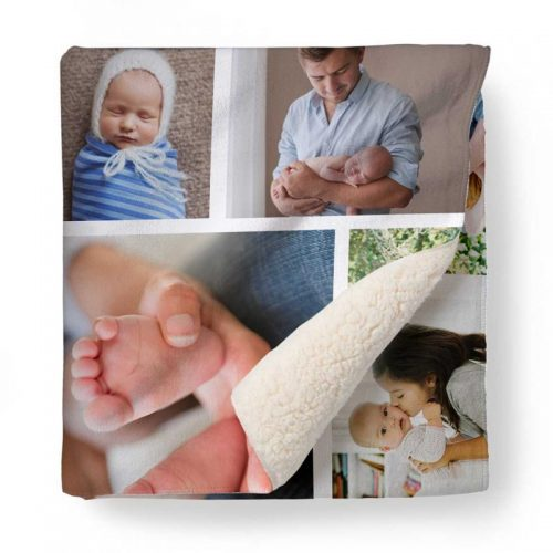 Photo Collage Fleece Blanket