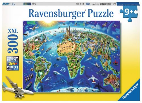 World Landmarks Map Puzzle