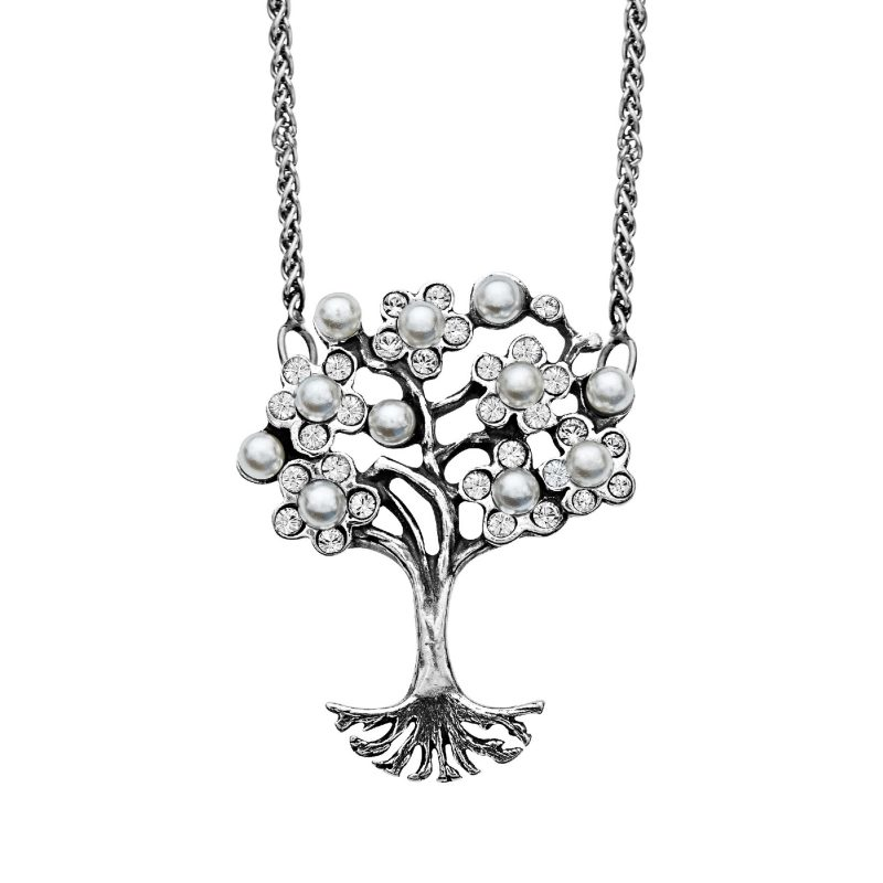 Art Nouveau Pearl Tree of Love Pendant