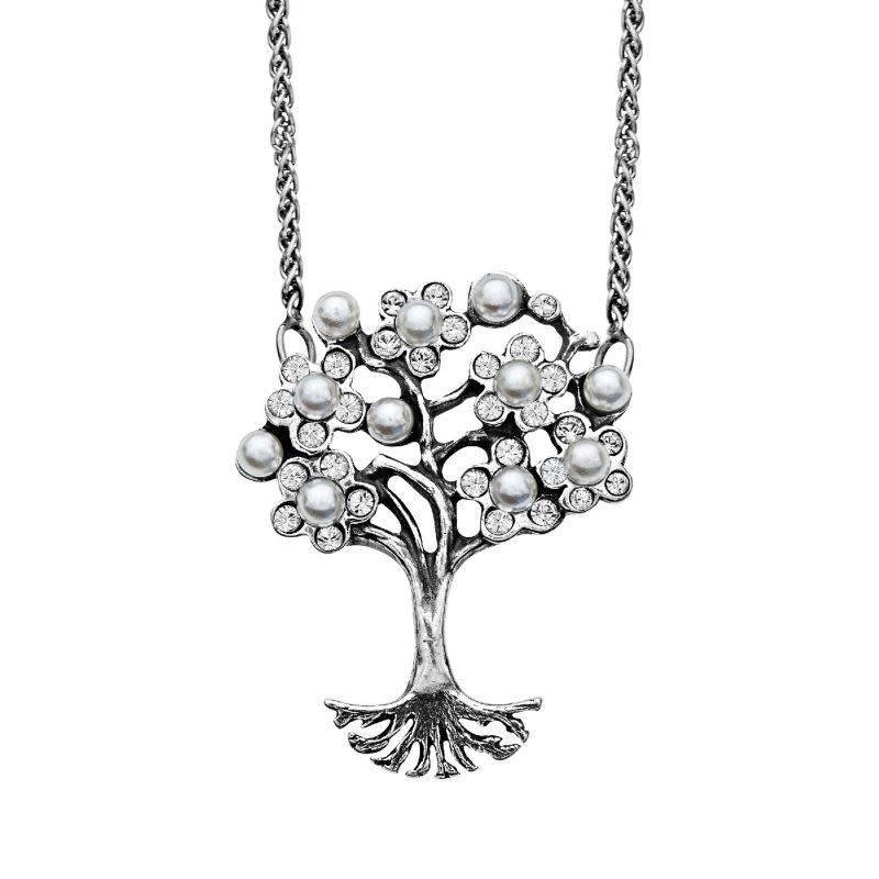 Art Nouveau Pearl Tree of Love Pendant