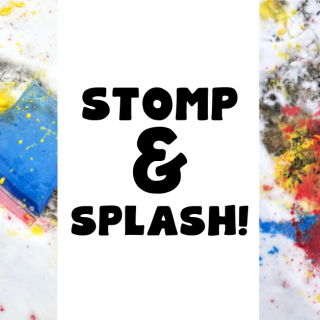 Stomp & Splash! - Active Outdoor Art for Toddlers