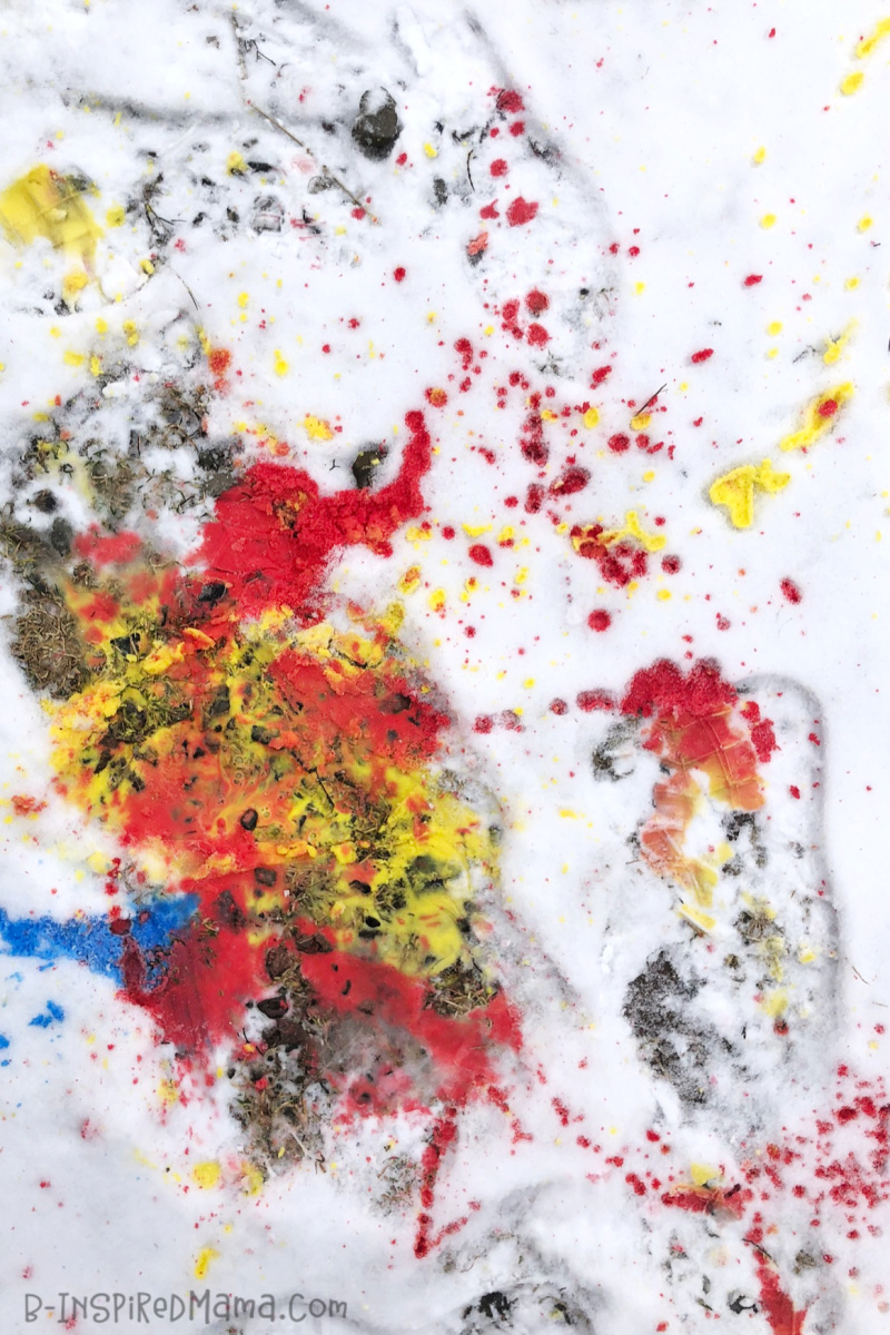 Stomp and Splash for Colorful, Messy, Active, and FUN Outdoor Toddler Art - for Summer OR Winter!