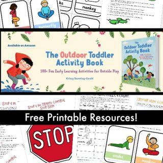 Outdoor Toddler Activity Book Resources
